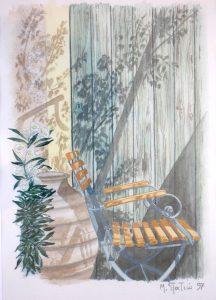 """Πίνακες ζωγραφικής - Ακουαρέλες """"ΜΕΣΗΜΕΡΙ_ΚΑΛΟΚΑΙΡΙΟΥ_Ι"""""""
