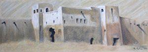 """Πίνακες ζωγραφικής - Παστέλ """"Ksour_I"""""""