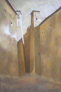 """Πίνακες ζωγραφικής - Παστέλ """"Ksour_IV"""""""