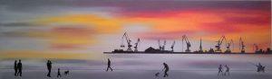 """Πίνακες ζωγραφικής - Ελαιογραφίες """"Waterfront_III"""""""